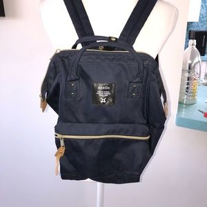 Anello Navy Canvas Backpack